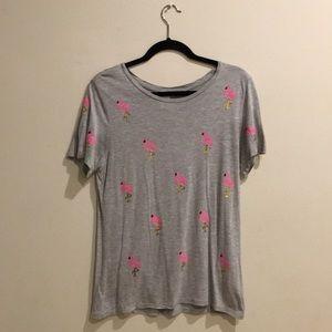 Flamingo sequins t shirt